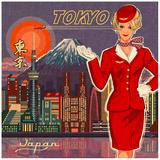 Tokyo Poster par Bruno Pozzo