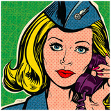 Flight attendant marine Prints by Bruno Pozzo