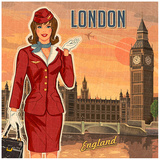 London Print by Bruno Pozzo