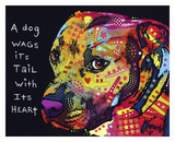 Gratitude Pitbull Posters by Dean Russo