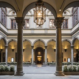 Palazzo (Palace) Strozzi, the Courtyard Photographic Print by Massimo Borchi