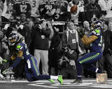 Malcolm Smith & Richard Sherman Game Winning Interception 2013 NFC Championship Game Spotlight Photo