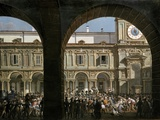 Domenico Pino Speaks to the Crowd in Milan, 1814 Photographic Print
