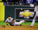 Joe Panik Game 7 of the 2014 World Series Action Photo