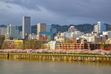 Storm over Portland and Willamette River, Portland, Oregon. Photographic Print by Craig Tuttle