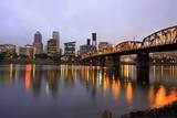 Early Morning down Town Portland and Willamette River, Portland Oregon. Photographic Print by Craig Tuttle