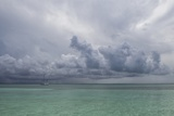 Rain Clouds and Thunderstorm at Sea. Photographic Print by Stephen Frink