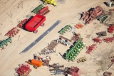 Aerial View of Farm Equipment, South Africa Photographic Print by Richard Du Toit