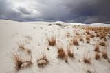 Gypsum Desert White Sands with Thunderstorm Clouds Photographic Print by Frank Krahmer