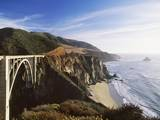 Bridge over Ocean Cliff, Big Sur, California, USA Photographic Print by Massimo Borchi