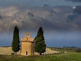 Vitaleta Chapel near Val Di Orcia with Morning Light also known as The¢Â'¬Â Photographic Print by Terry Eggers