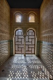 Interior of Alhambra Palace in Granada, Spain Fotografiskt tryck av Julianne Eggers