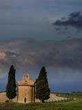 Vitaleta Chapel near Val D'orcia with Morning Light also known as The Church of the Madonna Photographic Print by Terry Eggers
