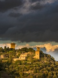 Storm Clouds above Monticchiello with Last Evening Light Photographic Print by Terry Eggers