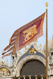 Venetian Flag and St Marks Basilica Photographic Print by Paul Seheult