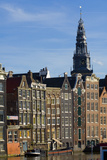 Row Houses and Oude Kerk Tower Photographic Print by Guido Cozzi