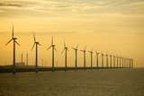 Line of Wind Turbines Photographic Print by Owen Franken