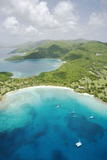 Aerial View of Caneel Bay and St. John Photographic Print by Macduff Everton