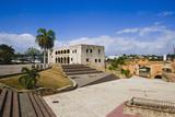 Plaza De La Hispanidad with the Museo De Alcazar De Colon Photographic Print by Massimo Borchi