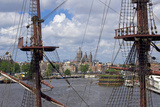 Masts of Historic Ship at NEMO Museum Photographic Print by Guido Cozzi