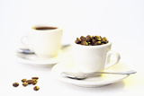 Coffee Beans and Cups Photographic Print by David Sutherland