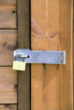 Locked Padlock on Shed Photographic Print by Chris Henderson