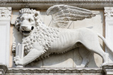 Stone Carving of Winged Lion of St Mark Photographic Print by Paul Seheult