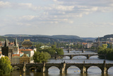 Arched Bridges across the Vltava River Photographic Print by Paul Seheult