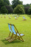 Deck Chairs in St. James Park Photographic Print by Massimo Borchi