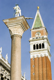 The Column of San Teodoro and Campanile Photographic Print by Paul Seheult