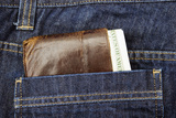 Wallet in Pocket Photographic Print by John Harper