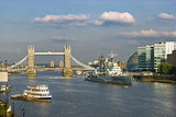 The Tower Bridge and HMS Belfast Photographic Print by Massimo Borchi