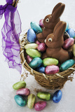 Easter Egg Collection in Basket Photographic Print by Martin Harvey