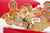 Decorated Holiday Cookies Photographic Print by Martin Harvey