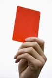 Hand Holding Red Card Photographic Print by Paul Seheult