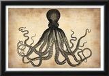 Vintage Octopus Poster