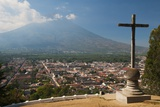 Volcan De Agua above Antigua in Guatemala Photographic Print by Sergio Pitamitz
