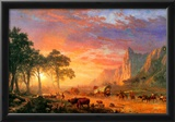 Albert Bierstadt The Oregon Trail Art Print Poster Prints