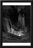 """Gustave Doré (Illustration to Dante's """"Divine Comedy,"""" Inferno - The Heretics) Art Poster Print Posters"""