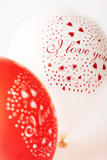 Valentine's Day Balloons Photographic Print by Martin Harvey