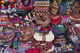 Guatemalan Textiles for Sell at Market in Antigua Photographic Print by Sergio Pitamitz