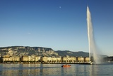 Jet D'eau, the Worlds Tallest Fountain, in Lake Geneva, GenVe Photographic Print by Richard Taylor