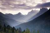 Sunbeams over Wilder Kaiser Mountains Photographic Print by Frank Lukasseck