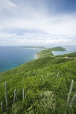 Hills and Ocean View on Virgin Gorda Photographic Print by Macduff Everton