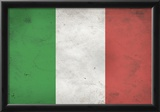 Italy Flag Distressed Art Print Poster Photo