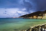 Coastla Town at Dusk, Road Town, Tortola, British Virgin Islands Photographic Print by Massimo Borchi