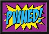 Pwned! Comic Pop-Art Art Print Poster Prints