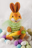 Toy Bunny with Candy Eggs Photographic Print by Martin Harvey