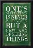 One's Destination Henry Miller Quote Poster