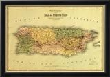 Puerto Rico - Panoramic Map Prints